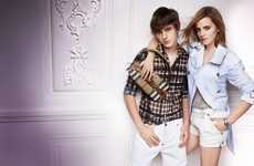 Seasonal Sibling Style - Emma and Alex Watson Star in the Burberry Spring 2010 Ad Campaign