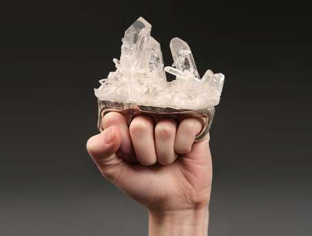 Crystal Brass Knuckles - Debra Baxter Makes Bizarre and Tough Pieces of Artwork