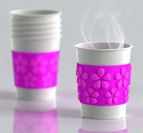 Heat Activated Coffee Sleeves - The Air Shield Protects Your Fingers From Steaming Hot Coffee Cups