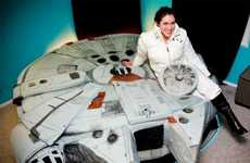 Star Wars Fan Builds Her Own Millennium falcon bed