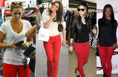 Bold Crimson Pants