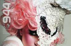 Lace Animal Masks - Check Out Lady Gaga in the Vanguard Issue of 944