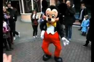Mickey Mouse Gets Down in Response to a B-Boy
