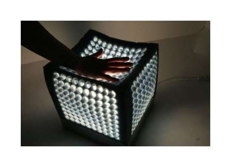 Spongy Soft Lighting - Shape-Shifting Cubeme Lamp is Recyclable