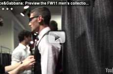 Virtual Runways - Dolce and Gabbana Preview Fall/Winter 11 on Youtube Channel