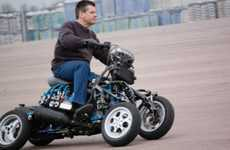 Four-Wheeled Motorcycles - The 4MC Motorcycle is a Fun Foursome