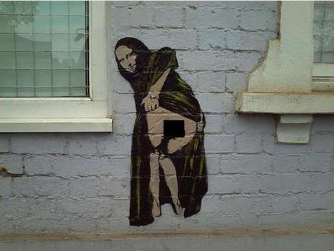 Mona Lisa Graffiti