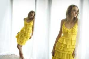 The Canary Yellow Fake Post-It Note Dress by Holly Stalder