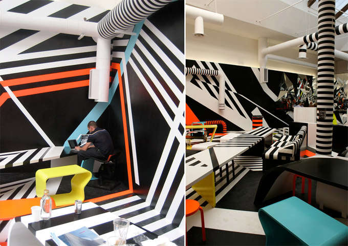 Modern Art Cafeterias