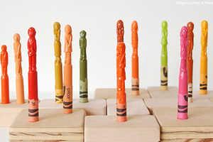 Diem Chau Turns Your Face into a Crayon Sculpture