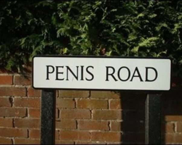 Unfortunately-Named Streets