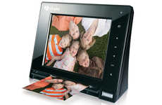Scanner Photo Frame - Hammacher Schlemmer Digital Photo Frame Scans Pictures