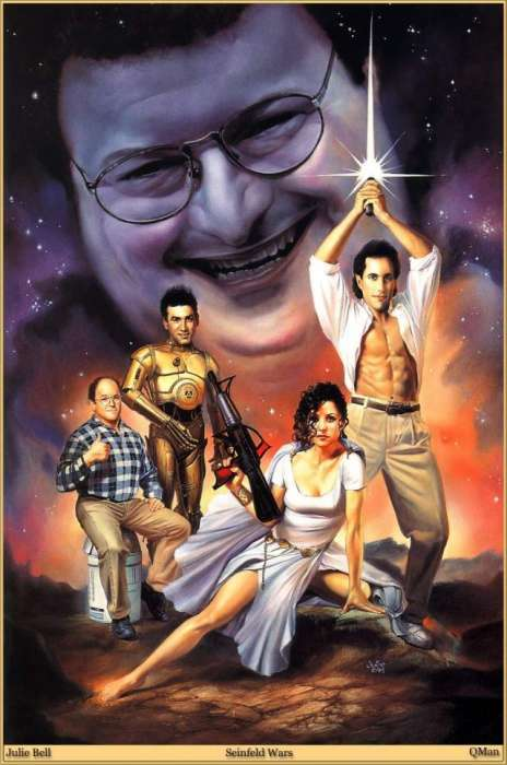 Geeky 90s Mashup Posters - 'Seinfeld Wars' Packs Interplanetary Punch of Observational H