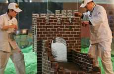 Candy Landmarks - The Great Chocolate Wall Replicates the Great Wall of China