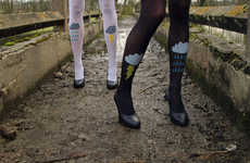 Rain Drop Tights - Les Queues De Sardines Graphic Tights are for Every Occasion