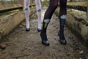 Les Queues De Sardines Graphic Tights are for Every Occasion