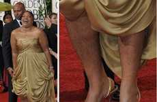 At Golden Globes Mo'nique Surprises With Unshaved Calves