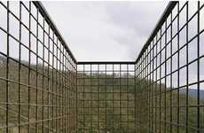 Outdoor Caged Beds - Million Donkey Hotel Lets Visitors Enjoy the View