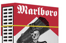 Sinister Cigarette Packaging - Anti Smoking Campaign Extinguishes Marlboro's Sales