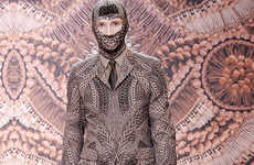 Faux Armor Masks - Alexander McQueen Fall Menswear is McCrazy