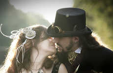 Steampunk Nuptuals - Michelle and Matt's Steampunk Wedding Photos look like Lots of Fun