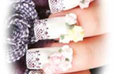 Lacy Fingernails - The Konad Nail Art Stamper Creates Romance for Nails