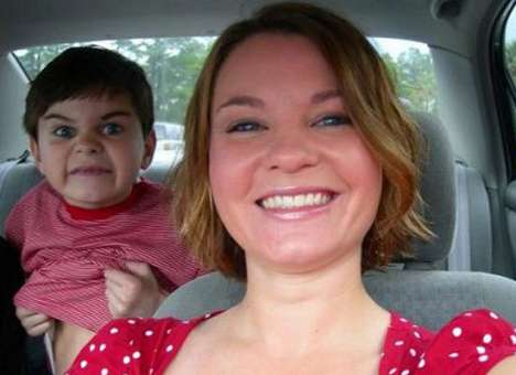 Creepy Kid Photobombs