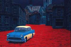 Andrew M. Wiese Paints Roadsters in an Array of Vibrant Settings