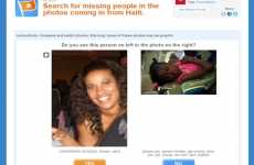 Missing Person Apps - The Haiti Earthquake Support Center Finds Loved Ones via Crowdsourcing
