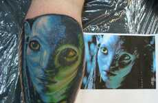 'Avatar' Tattoos - Frenzied Flick Fans Flock to Get Neytiri Tattoos and Jake Sully Ink