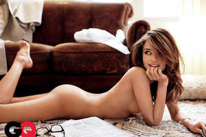 Miranda Kerr for GQ Promotes Reading Newspapers in the Buff
