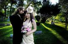 Day of the Dead Weddings - Mellisa and Phil's Heavy Metal Wedding is One to Remember