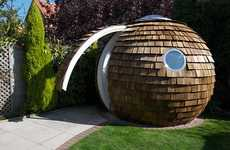 Garden Office Pods - The Archipod is an Ergonomic Outdoor Workspace