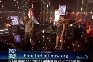 Rihanna, Jay-Z and Bono Perform 'Stranded' at Hope for Haiti Now