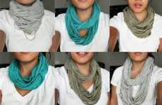 DIY Eco Hipster Scarves