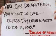Conan-Leno Protest Signs