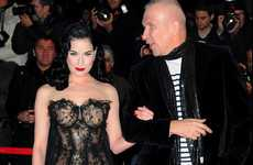 Layered Lace Bubble Dresses - Dita Von Teese NRJ Music Awards Gown Blends Flirty & Fun Beautifully