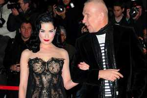 Dita Von Teese NRJ Music Awards Gown Blends Flirty & Fun Beautifully