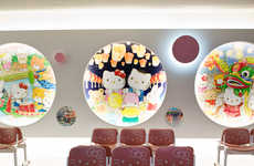 Manga Airport Lounges - The Tao Yuan International Aiport in Taiwan is Adorned in Hello Kitty