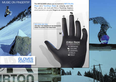 Communication Via Fingertip - HR Burton Gloves Provide Music, Phone for Snowboarders