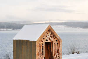 Studio Weave Designs Freya's Cabin as a Visitors' Shelter in the UK