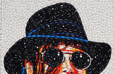 Prescription Pill Paintings - Jason Mecier Artwork Features Famous faces