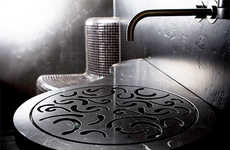Elegant Filigree Sinks - The Stroehmann Bathroom Sink Features a Cut-Out Plate
