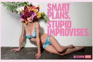 The New Diesel 'Be Stupid' Ads Have Being Dafted Looking like Fun