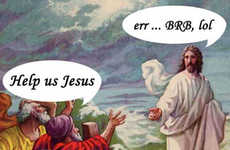 Religious Parody Blogs - 'Jesus is Love' Offers Modernized Christ Cartoons