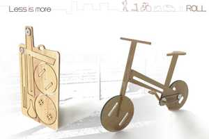 Wooden Bike by Nicolas Belly is Assembled from a Flat Piece of Wood
