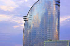 Glassy Mediterranean Hotels - W Barcelona Offers Spectacular Architecture Close to the City
