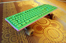 Skateboarding Keyboards - The 'Skatekeyboard' is For Office Use Only
