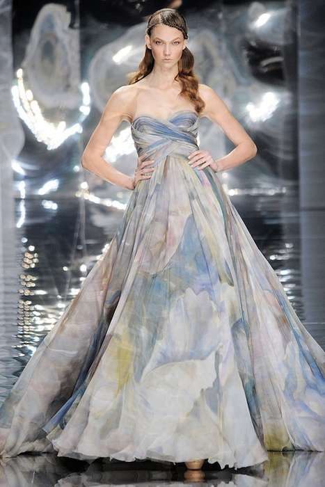 Ethereal Fairytale Gowns - Elie Saab Spring Haute Couture 2010 is Whimsical