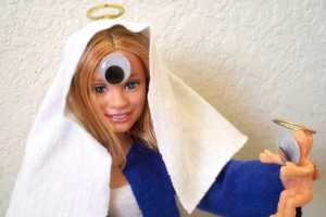 The Cyclops Virgin Mary is Made Out of an Olsen Doll